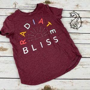 Old Navy Shirt Girls 8 Radiate Bliss Short Sleeve
